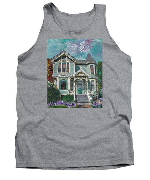 Tank Top featuring the mixed media Alameda 1897 - Queen Anne by Linda Weinstock
