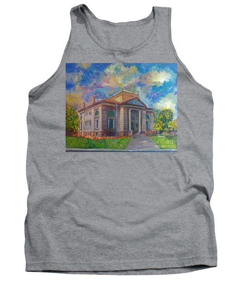 Tank Top featuring the mixed media Alameda Carnegie Library 1899 by Linda Weinstock