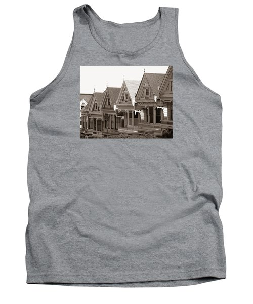 Alamo Square - Victorian Painted Ladies 2009 Tank Top by Connie Fox