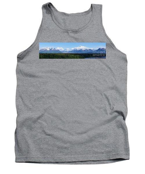 Alaskan Denali Mountain Range Tank Top by Jennifer White