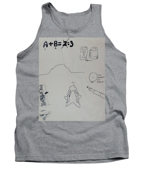 Tank Top featuring the drawing Algebra by Erika Chamberlin