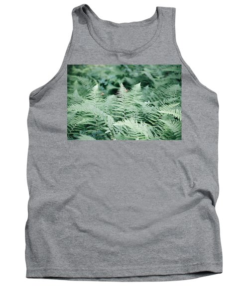 Tank Top featuring the photograph Algonquin Ferns by David Porteus