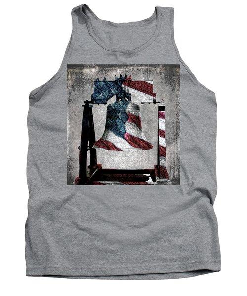 All American Liberty Bell Art_denim Tank Top