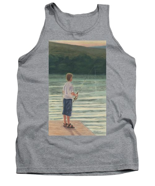Tank Top featuring the painting All Day Long by Arlene Crafton