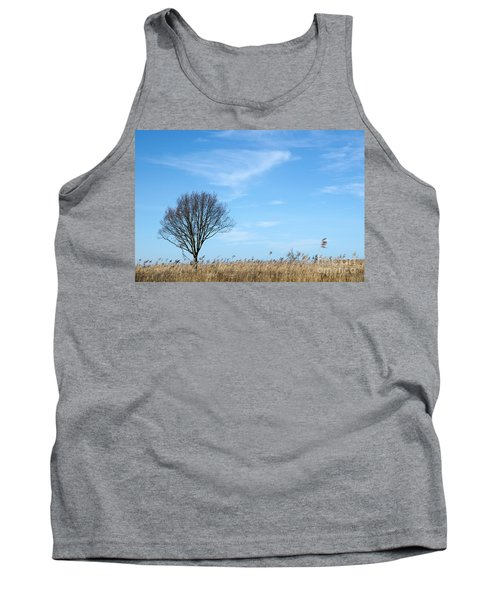 Alone Tree In The Reeds Tank Top