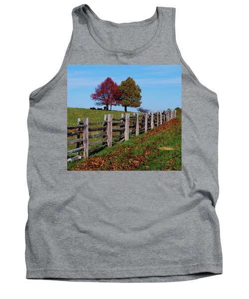Along The Fence Tank Top by Eric Liller