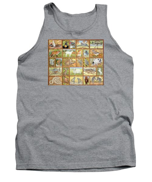Alphabetical Animals Tank Top by Ditz