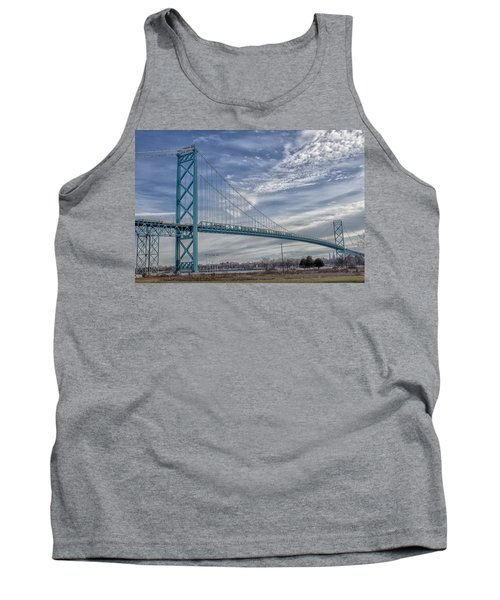 Ambassador Bridge From Detroit Mi To Windsor Canada Tank Top