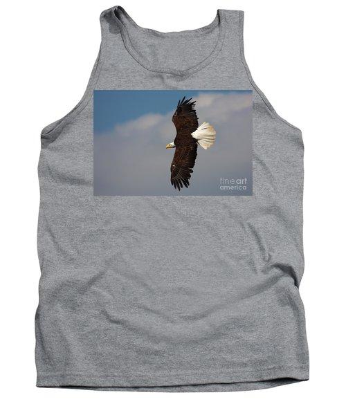 American Bald Eagle In Flight Tank Top