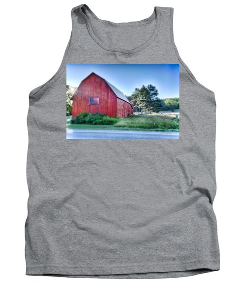 Tank Top featuring the photograph American Barn by Sebastian Musial