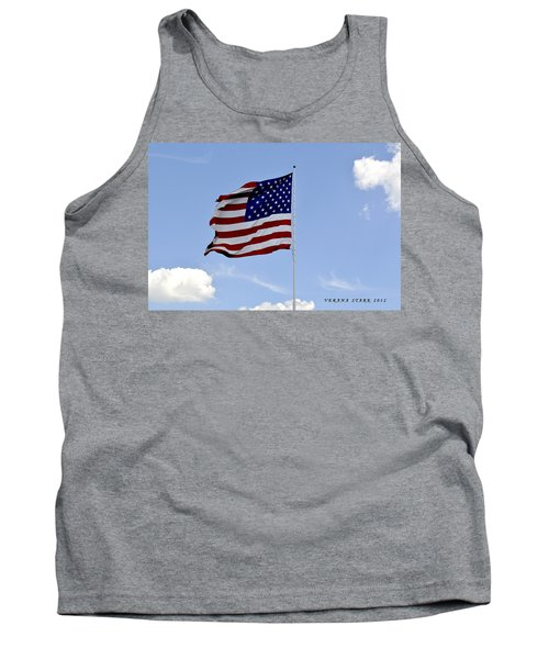 Tank Top featuring the photograph American Flag by Verana Stark