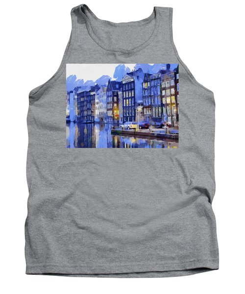 Amsterdam With Blue Colors Tank Top by Georgi Dimitrov