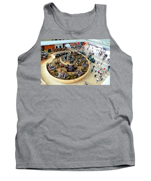 An Aerial View Of The Marina Bay Sands Hotel Lobby Singapore Tank Top