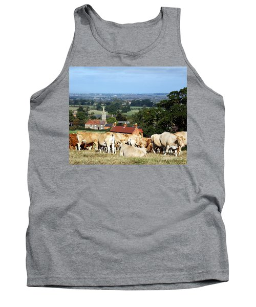 An English Summer Landscape Tank Top by Linsey Williams