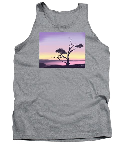 Tank Top featuring the digital art Anacortes by Terry Frederick