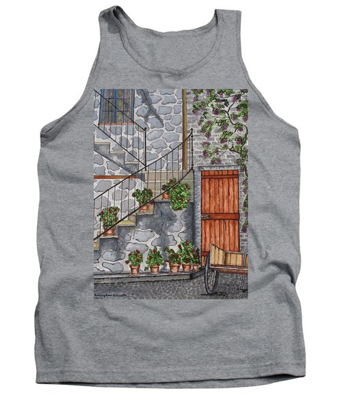 Ancient Grey Stone Residence Tank Top