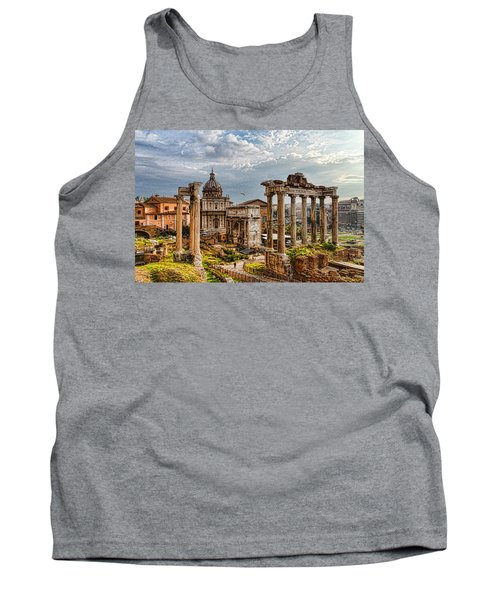 Ancient Roman Forum Ruins - Impressions Of Rome Tank Top