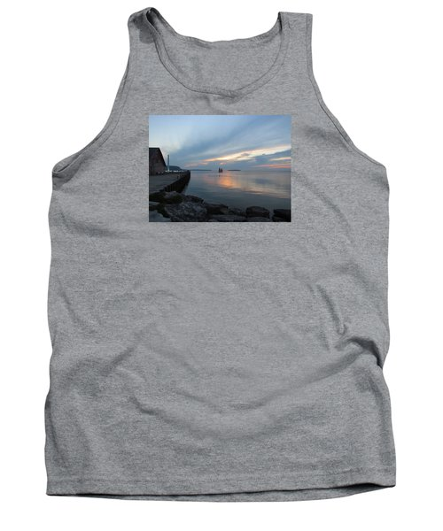 Anderson Dock Sunset Tank Top by David T  Wilkinson