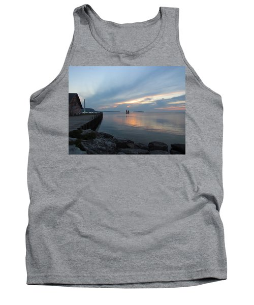Anderson Dock Sunset Tank Top