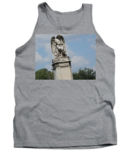 Tank Top featuring the photograph Angel Made From Stone by Aaron Martens