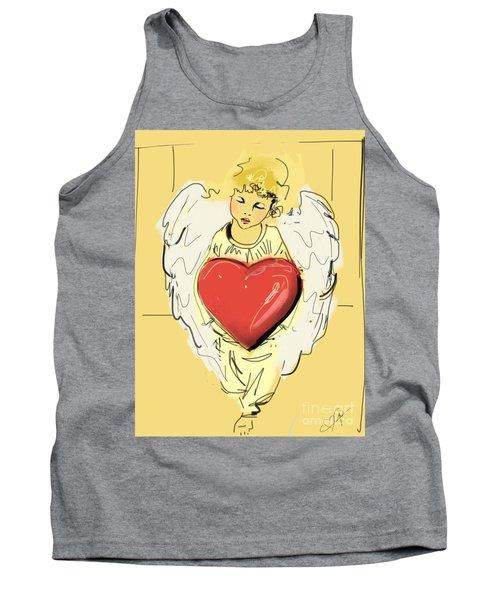 Angel Red Heart Tank Top