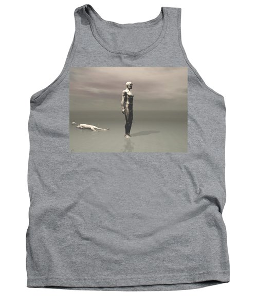 Tank Top featuring the digital art Anger by John Alexander
