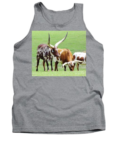 Ankole And Texas Longhorn Cattle Tank Top