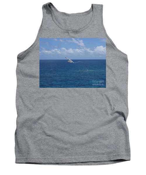 Tank Top featuring the photograph Antigua - In Flight by HEVi FineArt