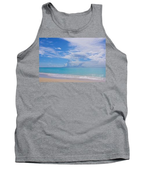 Antigua View Of Montserrat Volcano Tank Top