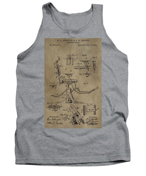 Antique Dental Chair Patent Tank Top