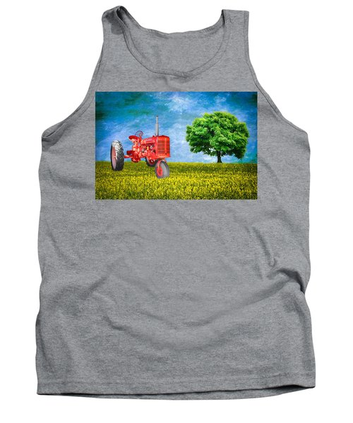 Antique Farmall Tractor Tank Top by Fred Larson
