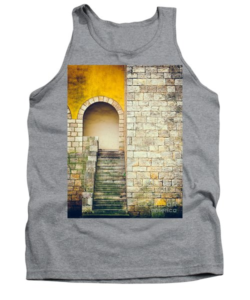 Tank Top featuring the photograph Arched Entrance by Silvia Ganora