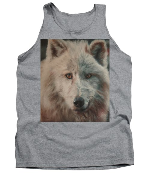 Tank Top featuring the painting Arctic Wolf by Cherise Foster