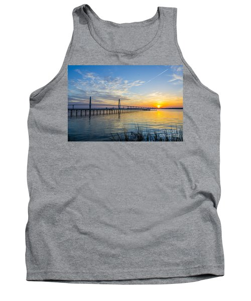 Tank Top featuring the photograph Calm Waters Over Charleston Sc by Dale Powell