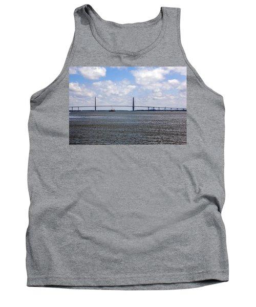 Tank Top featuring the photograph Arthur Ravenel Bridge by Sennie Pierson
