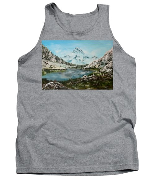 Tank Top featuring the painting Austrian Lake by Jean Walker
