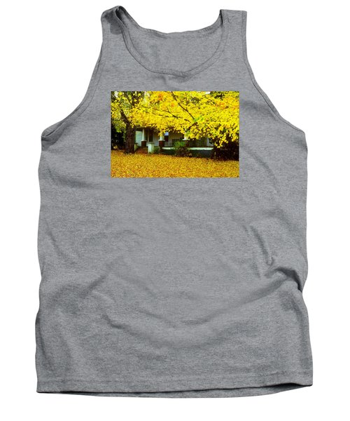 Tank Top featuring the photograph Autumn Homestead by Rodney Lee Williams