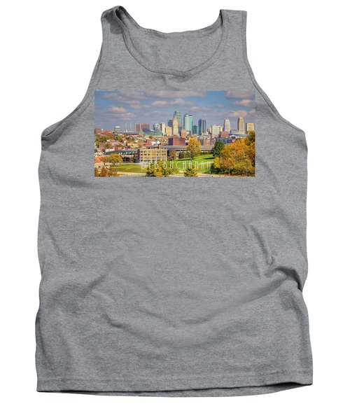 Autumn In Kansas City With Logo Tank Top