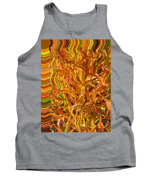 Autumn Leaves 5 - Abstract Photography - Manipulate Images Tank Top