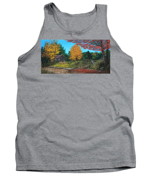Autumns Rustic Path Tank Top by Wendy Shoults