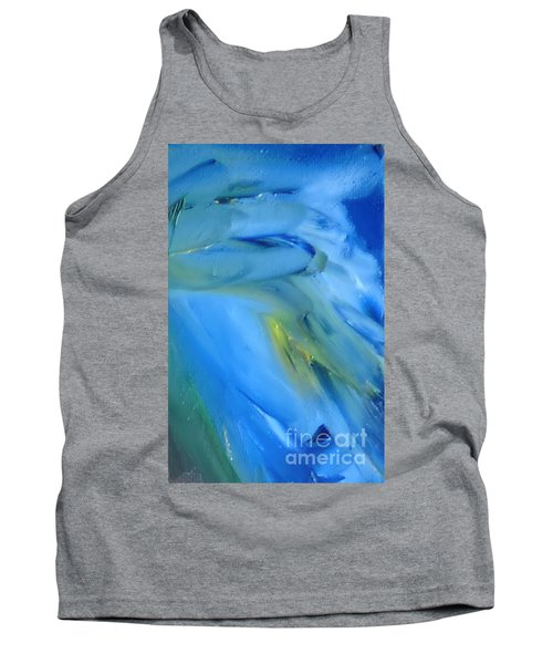 Tank Top featuring the painting Azul by Reina Resto