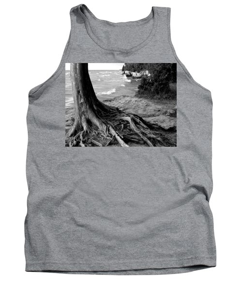 B And W Cedar Roots At Cave Point Tank Top
