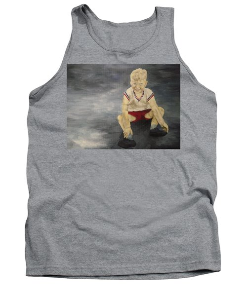 Tank Top featuring the painting Baby Bill  by Mary Ellen Anderson