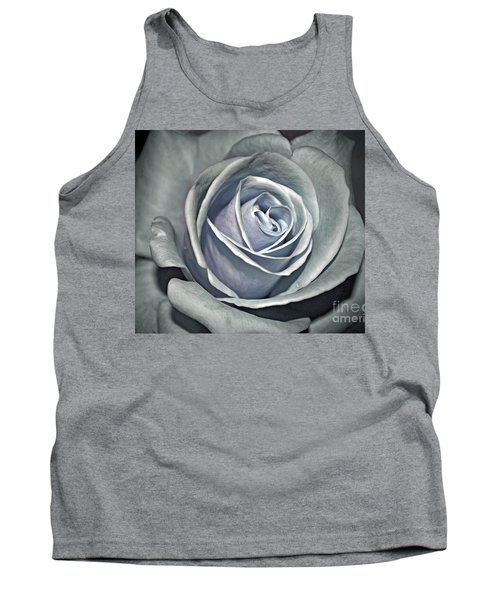 Tank Top featuring the photograph Baby Blue Rose by Savannah Gibbs
