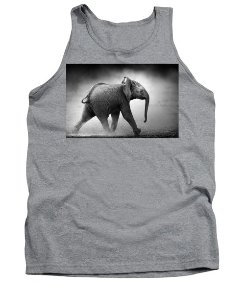 Baby Elephant Running Tank Top