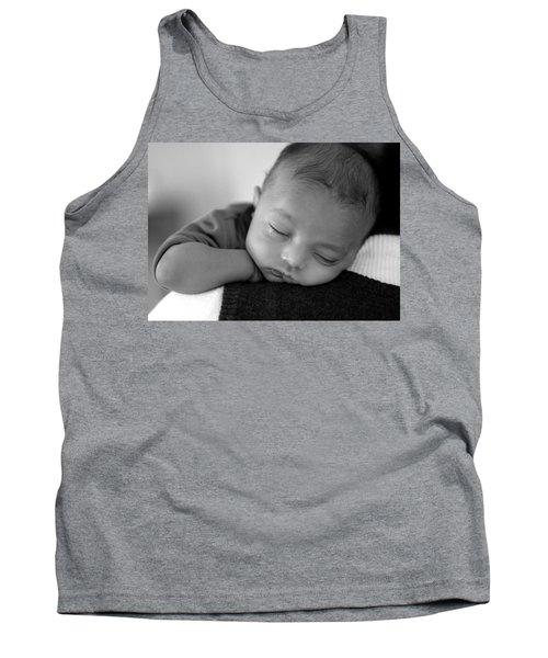 Baby Sleeps Tank Top by Lisa Phillips