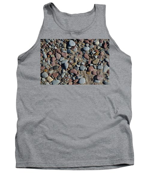 Tank Top featuring the photograph Background Of Wet Pebbles And Sand by Kennerth and Birgitta Kullman