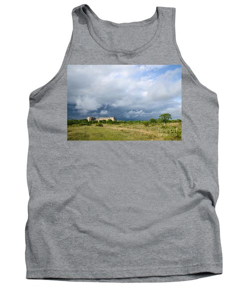 Tank Top featuring the photograph Bad Weather Is Coming Up At  A Medieval Castle Ruin by Kennerth and Birgitta Kullman
