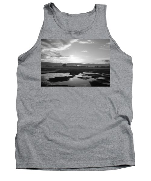 Tank Top featuring the photograph Bakersfield In Black And White by Meghan at FireBonnet Art