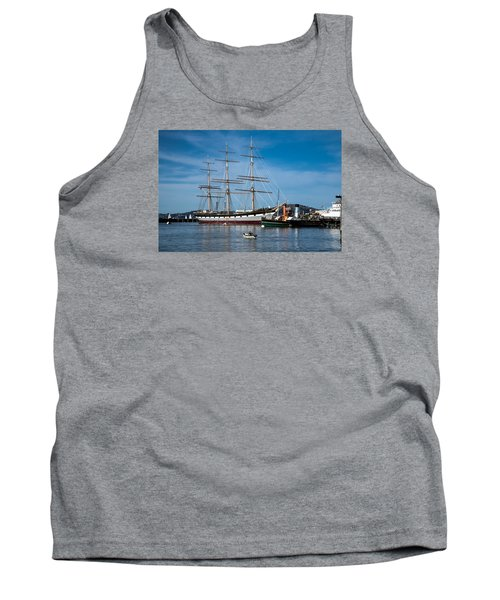 Rowing Past Balclutha And Steamship Eppleton Hall Tank Top